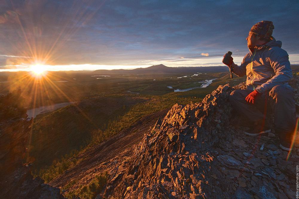 Рассвет на горе Острые Сопочки