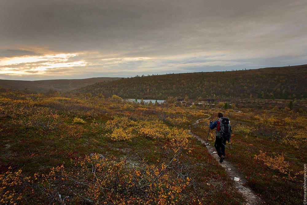 Финляндия, парк Урхо Кеконен, тропа возле озера Раутолампи.