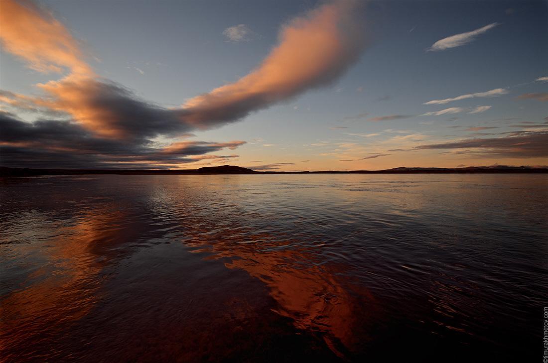 река Амгуэма на закате