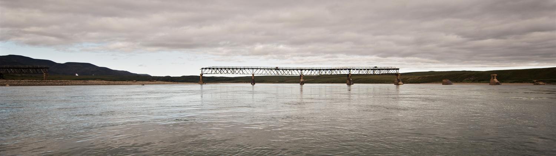 Мост через реку Амгуэма