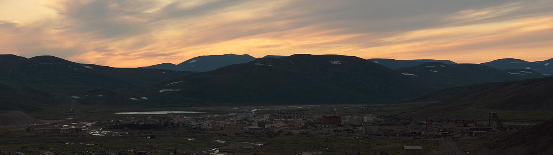 Посёлок Иультин на закате