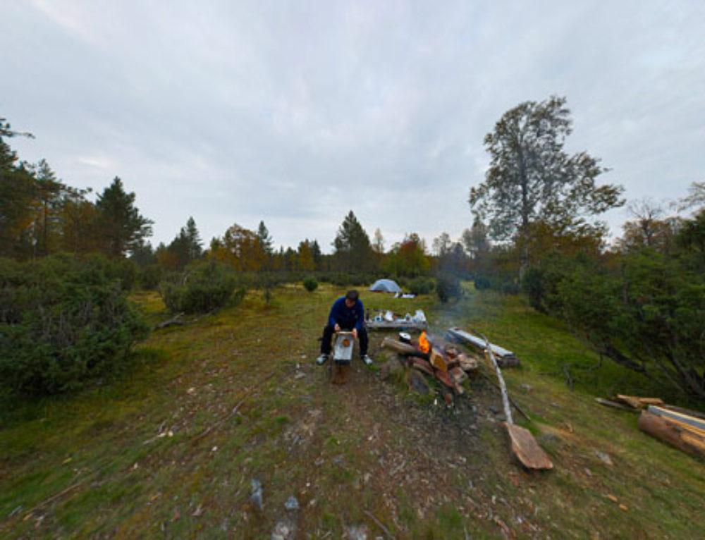 Лагерь у озера Пессинлампи