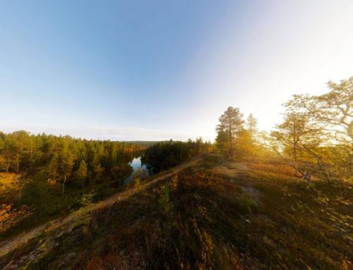 Озеро Пессинлампи на рассвете
