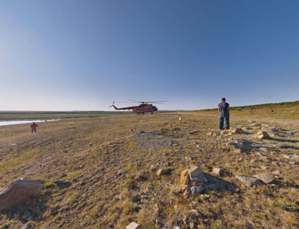 Вертолётный рейс в Снежное