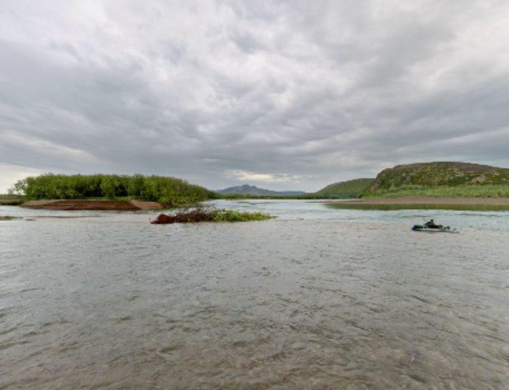 Слияние рек Мечкерёва и Анадырь