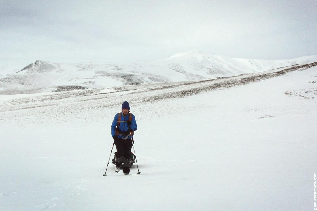 Мои лыжи были неправильно подобраны по росту, из-за этого я часто шёл пешком.