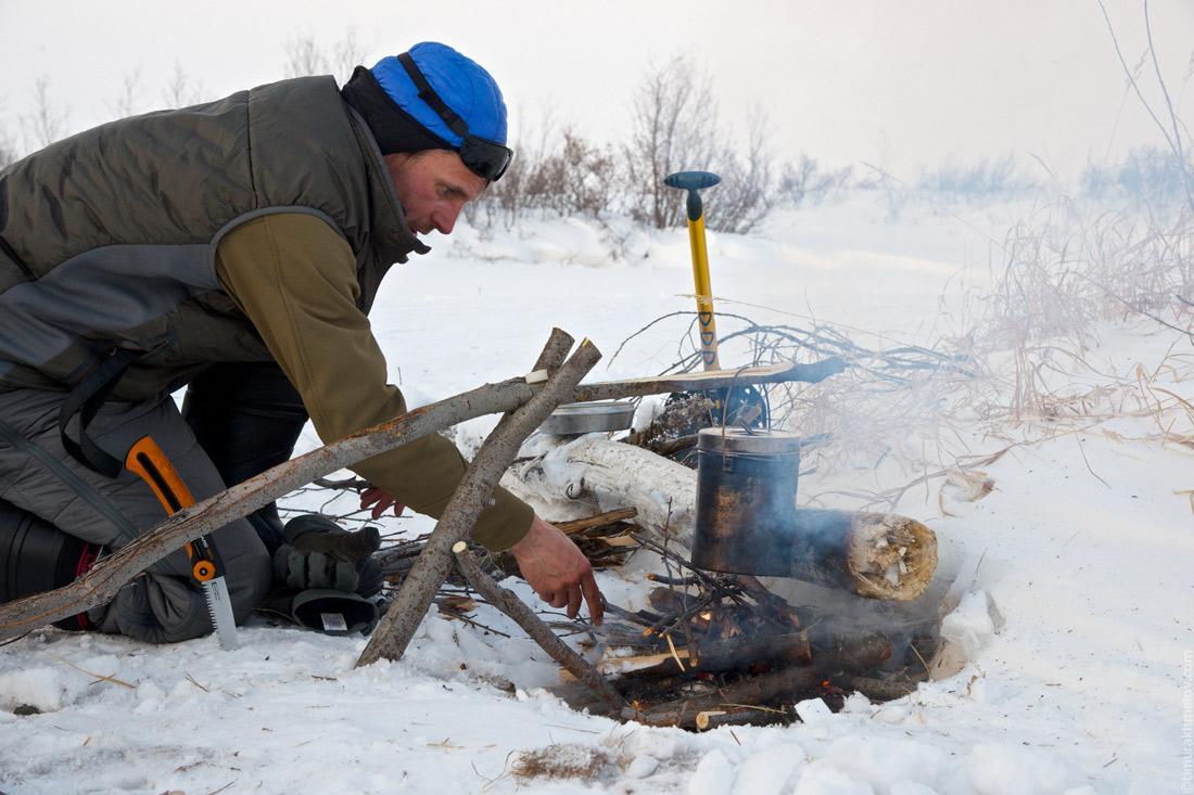 Лагерь на реке Мачерынэт