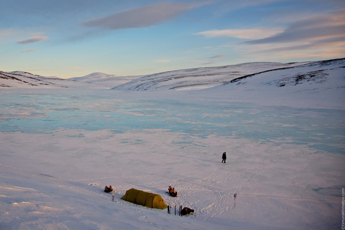Лагерь на реке Мачерынет.