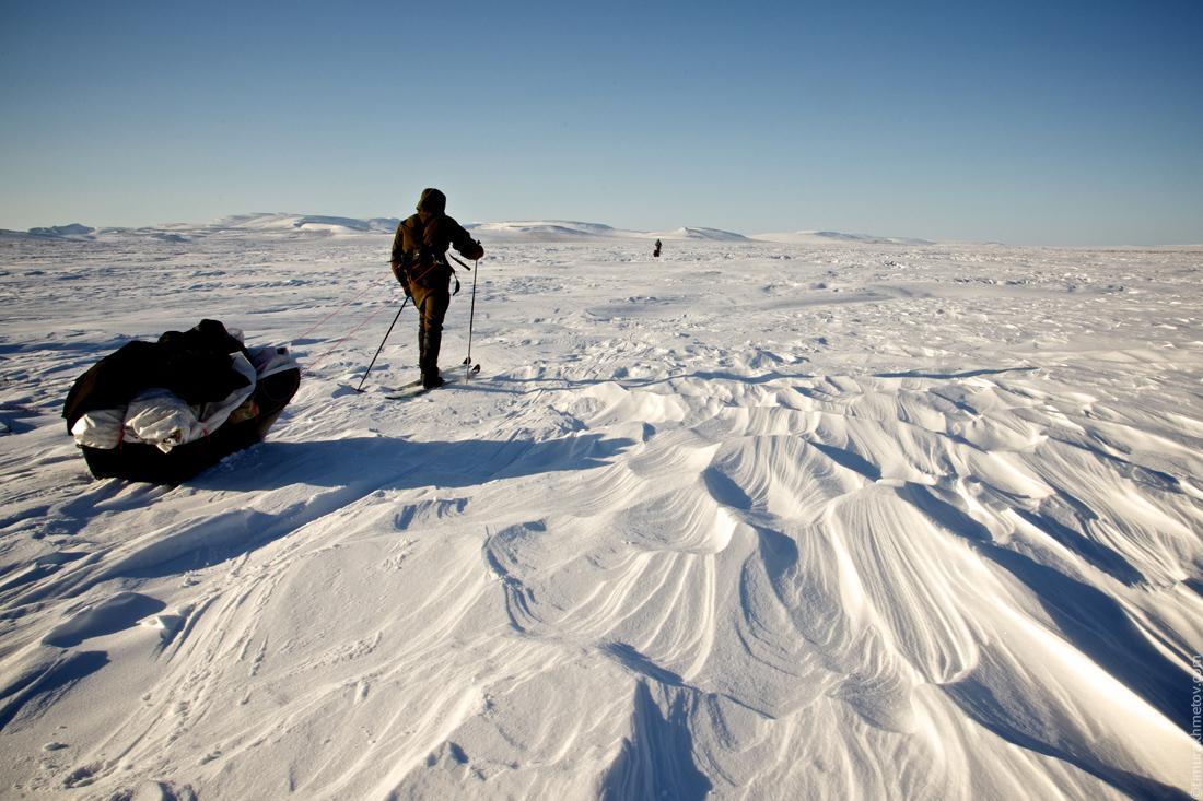 Зимний поход на лыжах