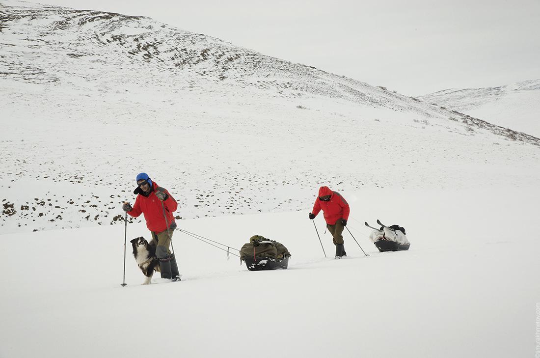 Лыжный туризм с волокушами