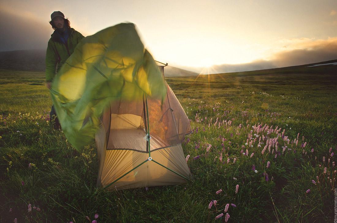 Как выбрать палатку. Палатка с внутренним каркасом