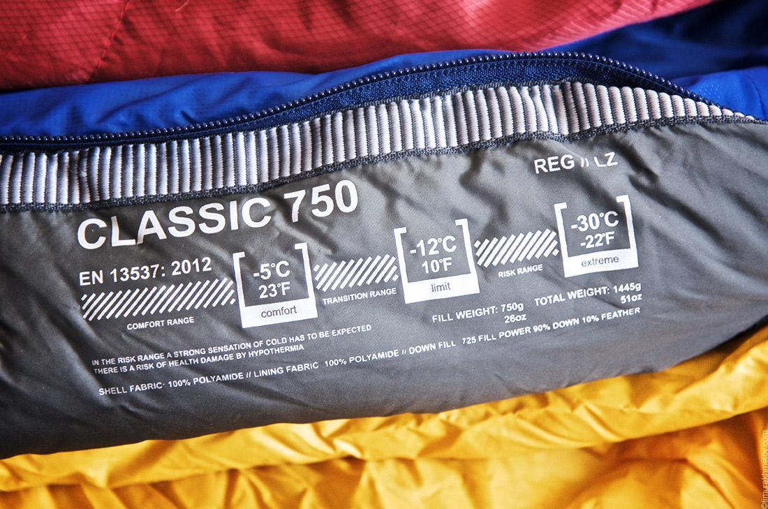 Как выбрать спальный мешок. Температурный диапазон. EN13537