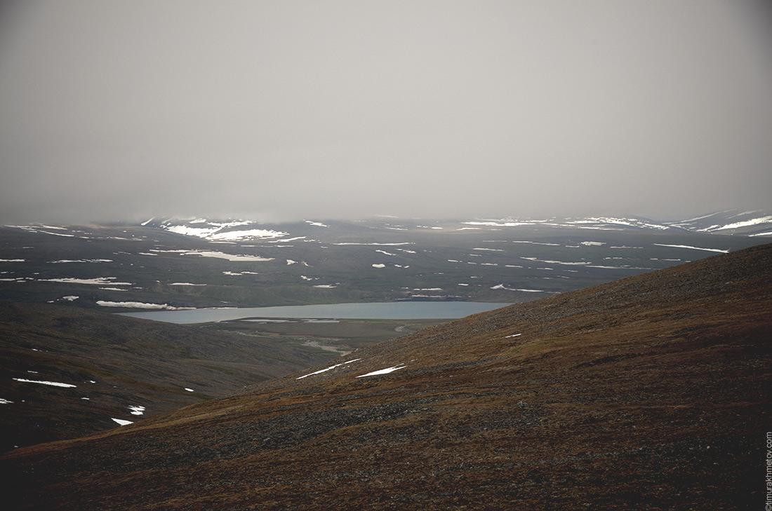 озеро Коолен под облаками