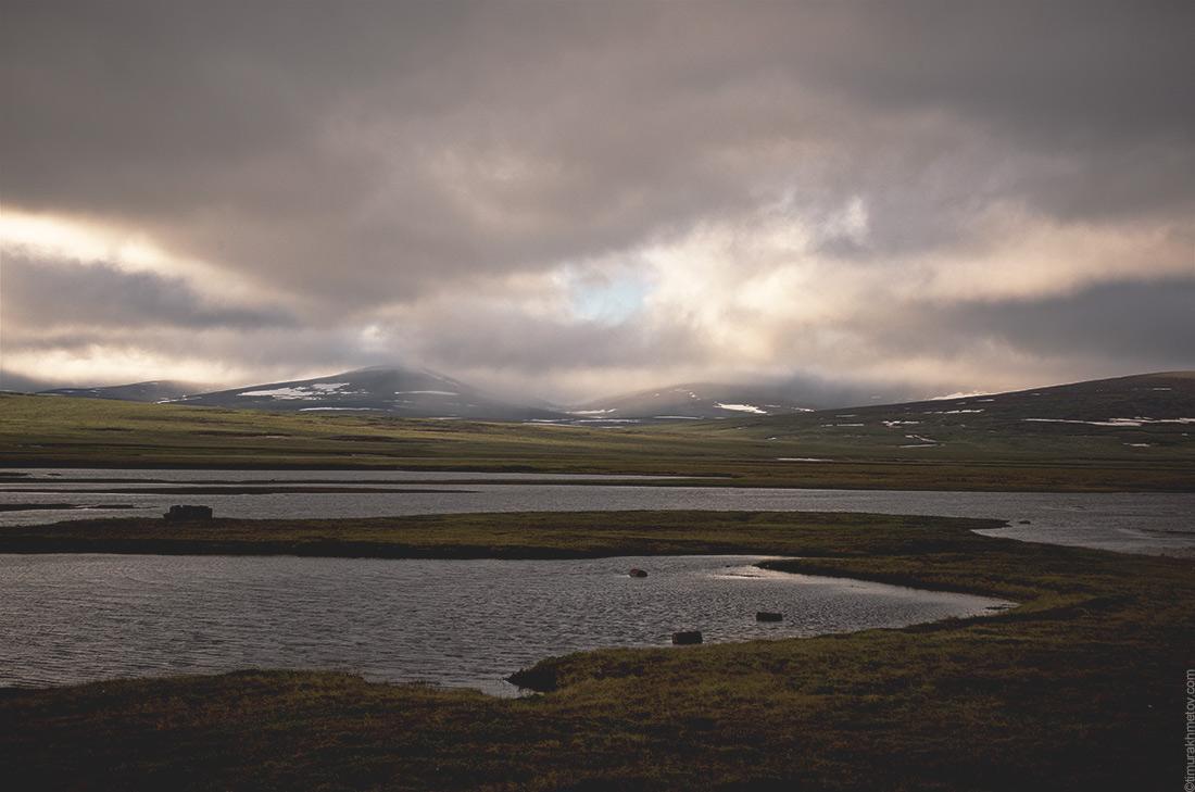 Закат на озере Коолен