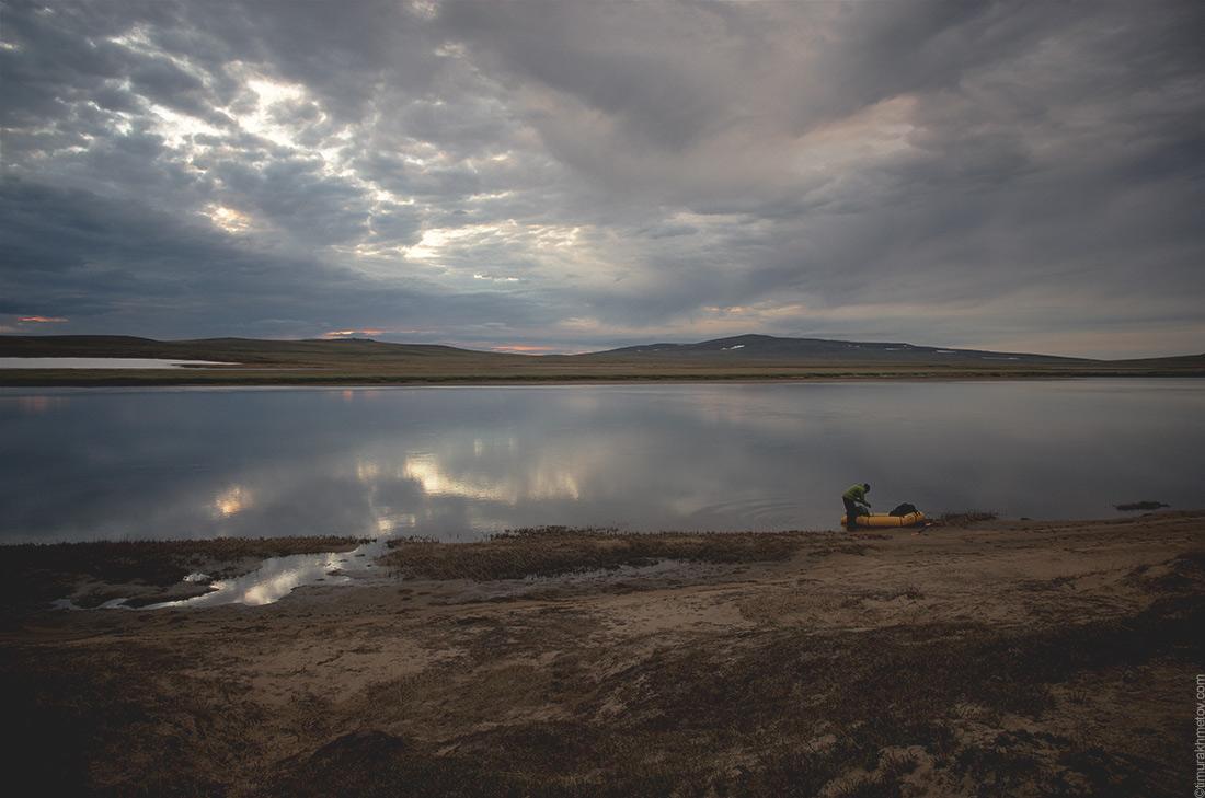 река Кооленваам, конец гребли