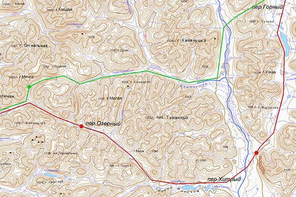 Карта маршрута в Чаантал