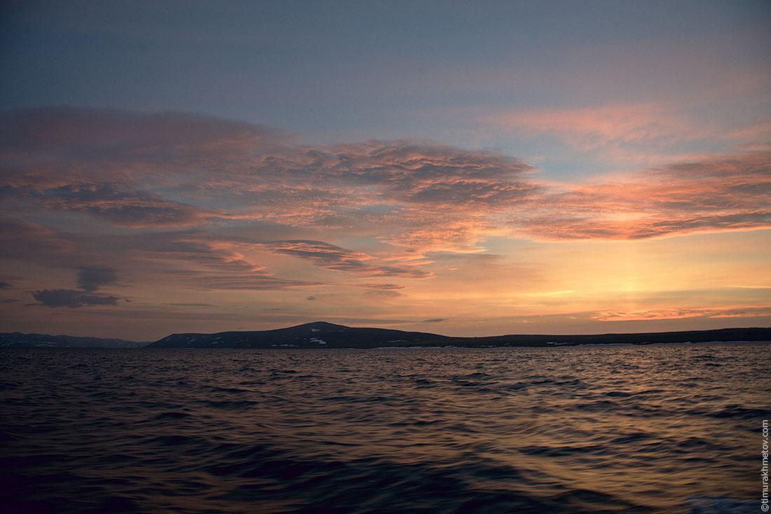 Закат в заливе Лаврентия
