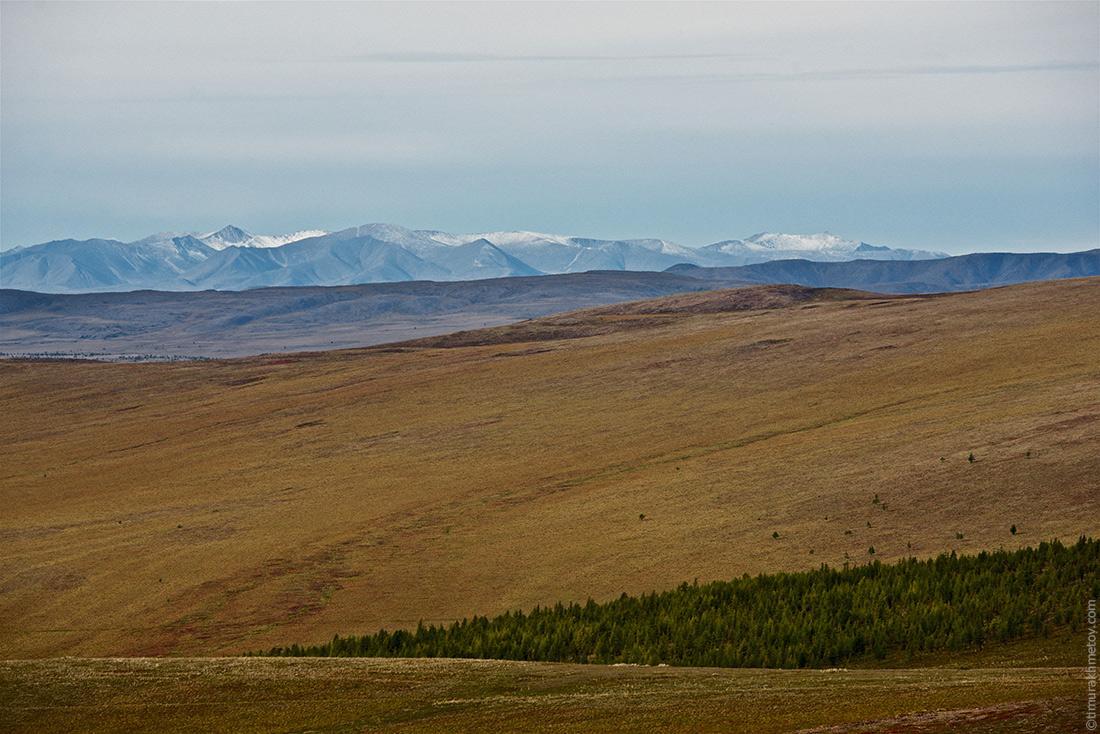 Снег на вершинах гор