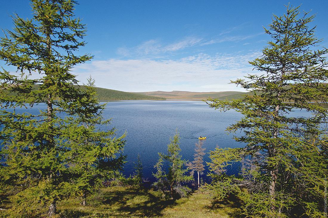 Панорама озера Лесное