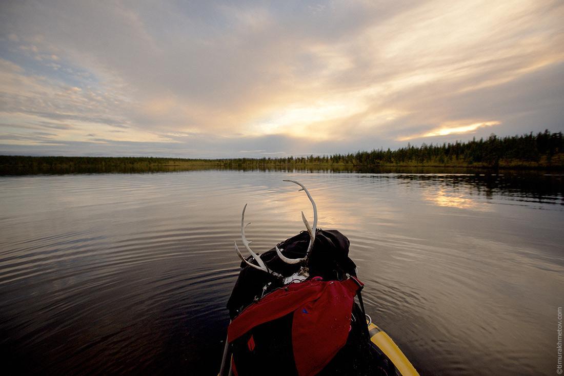 Закат на озере Лесное