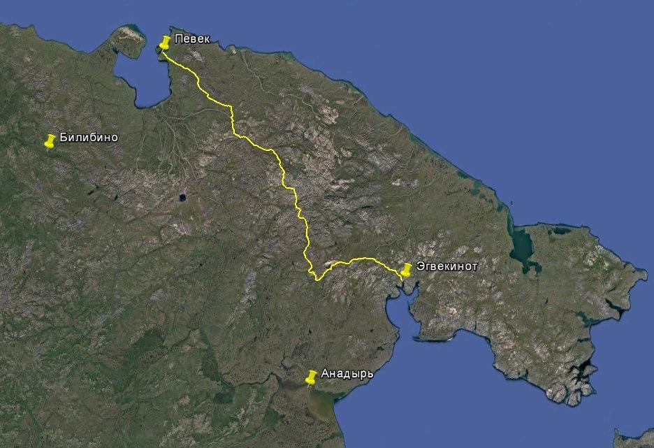 Маршрут экспедиции на квадроциклах