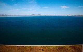 Озеро Эльгыгытгын, вид на север и южный берег.